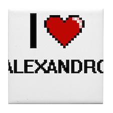 I Love Alexandro Tile Coaster