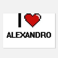 I Love Alexandro Postcards (Package of 8)