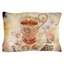 Victorian Cup of tea Pillow Case