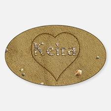 Keira Beach Love Sticker (Oval)