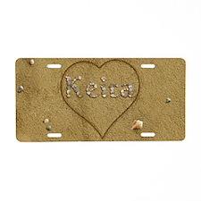 Keira Beach Love Aluminum License Plate