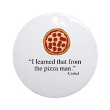 Supernatural Castiel's Pizzaman Round Ornament