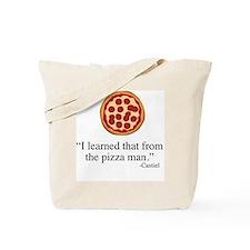 Supernatural Castiel's Pizzaman Tote Bag