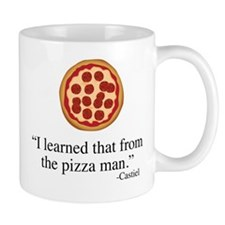 Supernatural Castiel's Pizzaman Small Mug