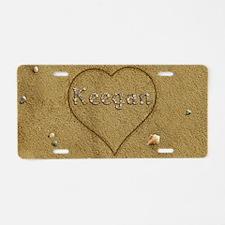 Keegan Beach Love Aluminum License Plate