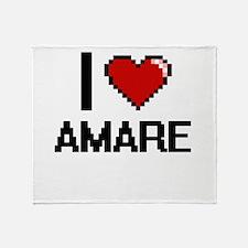 I Love Amare Throw Blanket