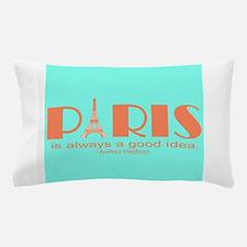 Audrey Hepburn Paris Quote Pillow Case