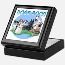 Dogs Rock (rnd) Keepsake Box