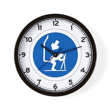 Chair Lift - Andorra Wall Clock