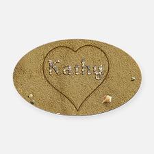 Kathy Beach Love Oval Car Magnet