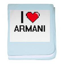 I Love Armani baby blanket