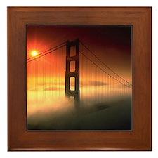 Fog Shrouded Golden Gate Framed Tile