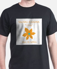 All Is Well Sacral Chakra Flower Design T-Shirt