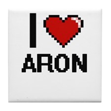 I Love Aron Tile Coaster