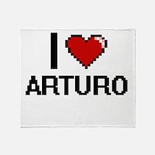 I Love Arturo Throw Blanket