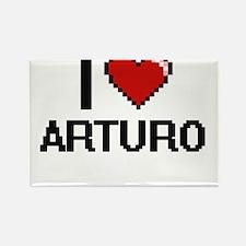 I Love Arturo Magnets