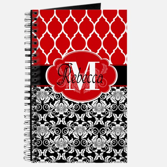Vintage Floral Monogram Journal