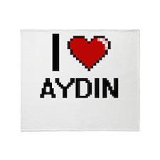 I Love Aydin Throw Blanket