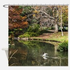 Duck Pond Scene Shower Curtain