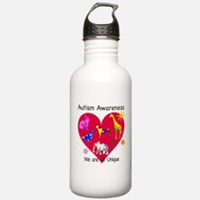 Autism Awareness Anima Water Bottle