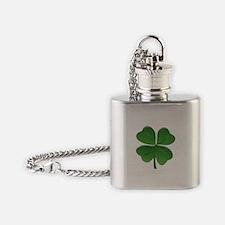 St Patrick Shamrock T Flask Necklace
