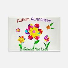 Autism Awareness Flowers Rectangle Magnet