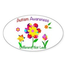 Autism Awareness Flowers Decal