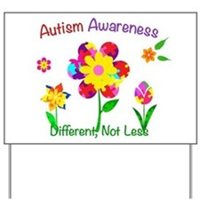 Autism Awareness Flowers Yard Sign