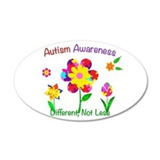 Autism Awareness Flowers Wall Decal