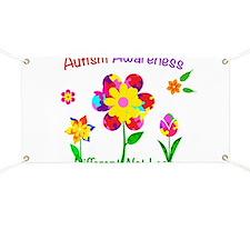 Autism Awareness Flowers Banner