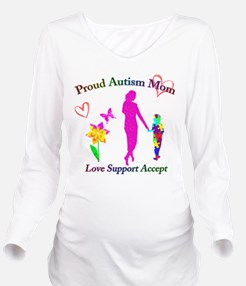 Proud Autism Mom Long Sleeve Maternity T-Shirt