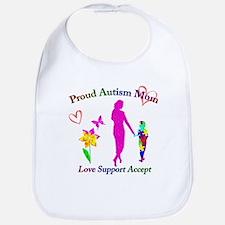 Proud Autism Mom Bib