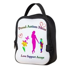 Proud Autism Mom Neoprene Lunch Bag
