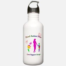 Proud Autism Mom Water Bottle