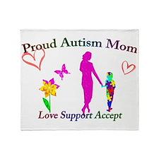 Proud Autism Mom Throw Blanket