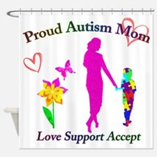 Proud Autism Mom Shower Curtain