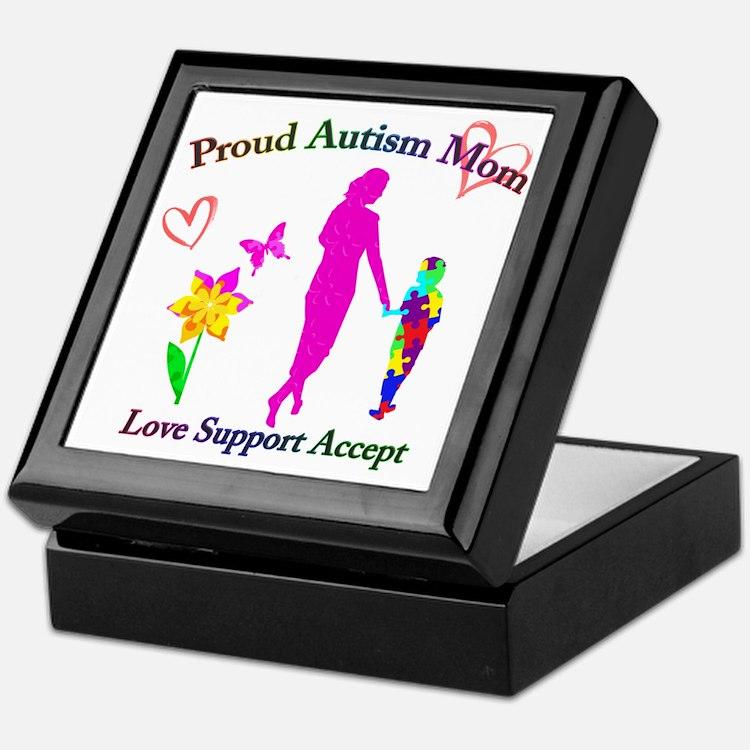 Proud Autism Mom Keepsake Box