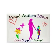 Proud Autism Mom Rectangle Magnet