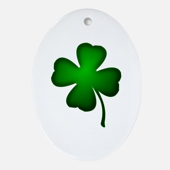 Four Leaf Clover Ornament (Oval)