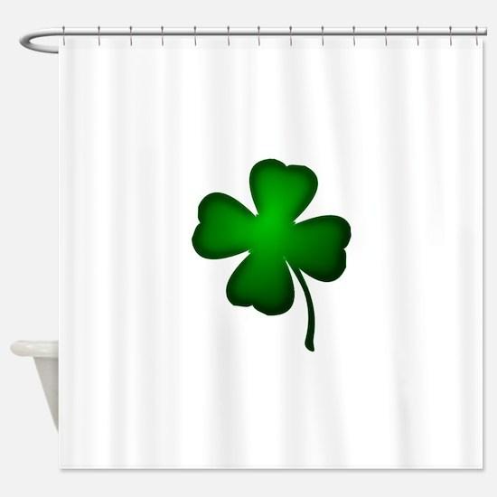 Four Leaf Clover Shower Curtain