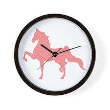 American Saddlebred - Pink Pattern Wall Clock