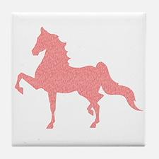 American Saddlebred - Pink Pattern Tile Coaster