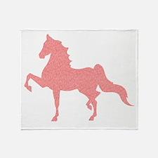 American Saddlebred - Pink Pattern Throw Blanket