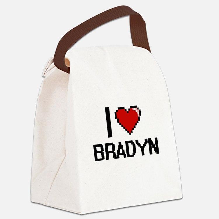 I Love Bradyn Canvas Lunch Bag