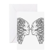 Surreal Confrontation Greeting Cards