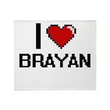 I Love Brayan Throw Blanket