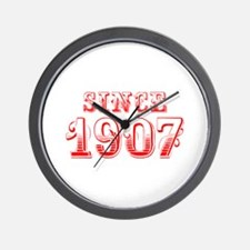 SINCE 1907-Bod red 300 Wall Clock