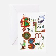 Bless SINGLE greeting card