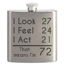 That Means Im 72 Flask