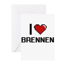I Love Brennen Greeting Cards